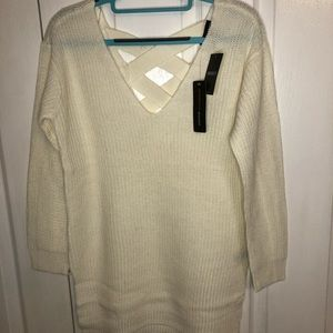 Forever 21 Women's Sweater Crossed Back NWT Size M